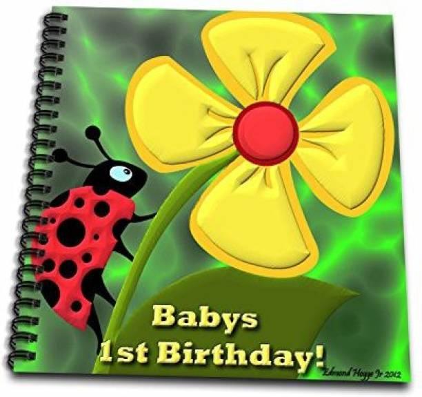 3dRose Db 58856 1 Ladybug Babys 1St Birthday Drawing Book 8 By Inch