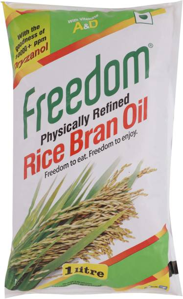 Freedom Physically Refined Rice Bran Oil Pouch