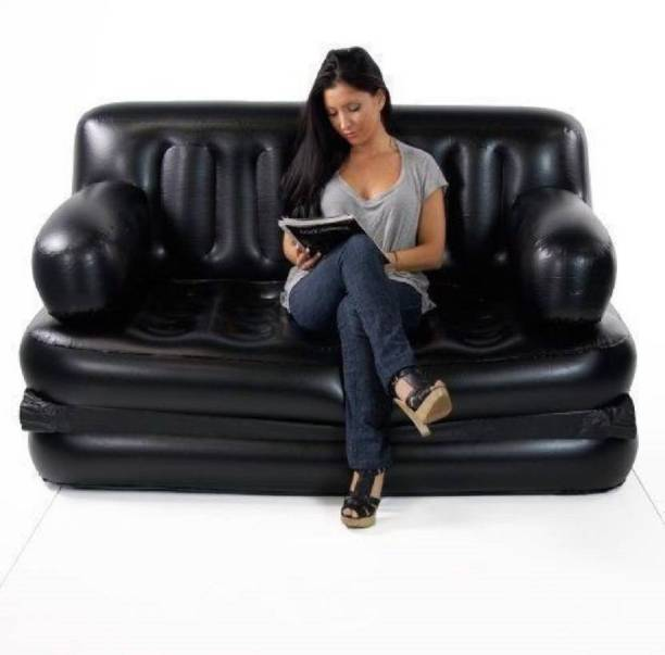 MEZIRE 5 in 1 PVC (Polyvinyl Chloride) 3 Seater Inflatable Sofa