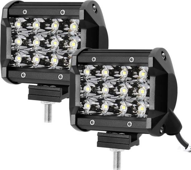 EASEZAP Heavy Duty 2Pc, 36 Watt Cree 12 Led Fog Light / Work Light Bar Spot Beam Car Fancy Lights