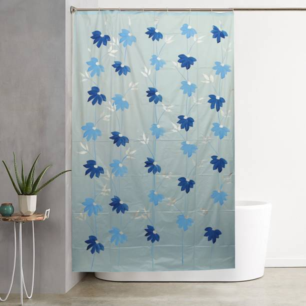 Kuber Industries 213 Cm 7 Ft PVC Shower Curtain Pack Of 2