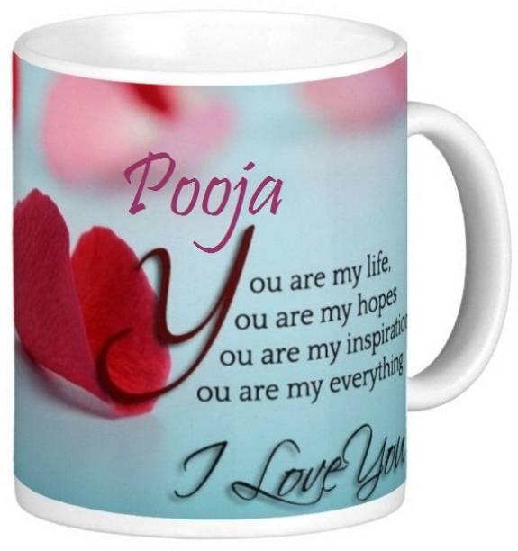 Exocticaa Pooja Love S006 Ceramic Coffee Mug