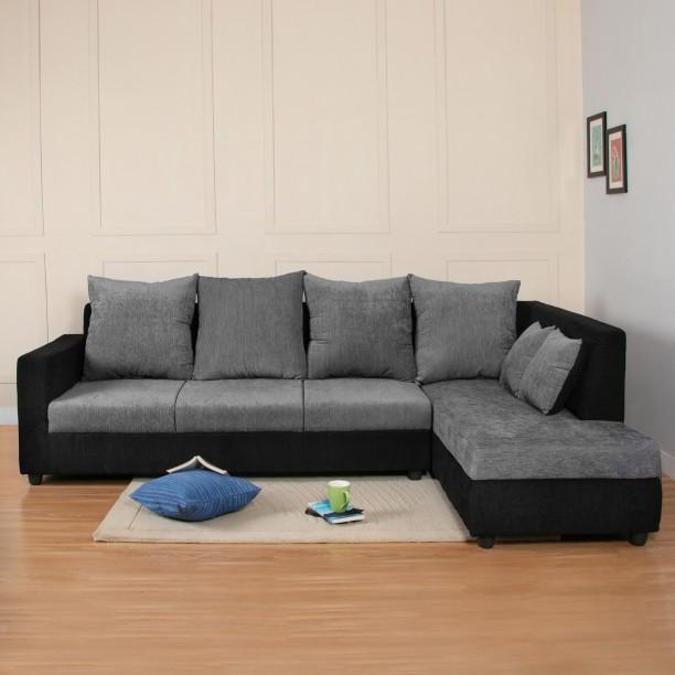 Flipkart Perfect Homes Porto Fabric 4 Seater Sofa