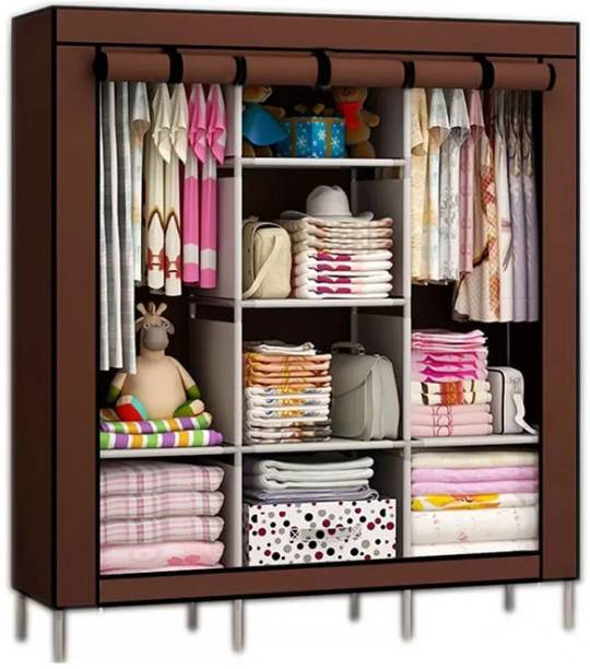 Royaldeals 88130 Polyester Collapsible Wardrobe