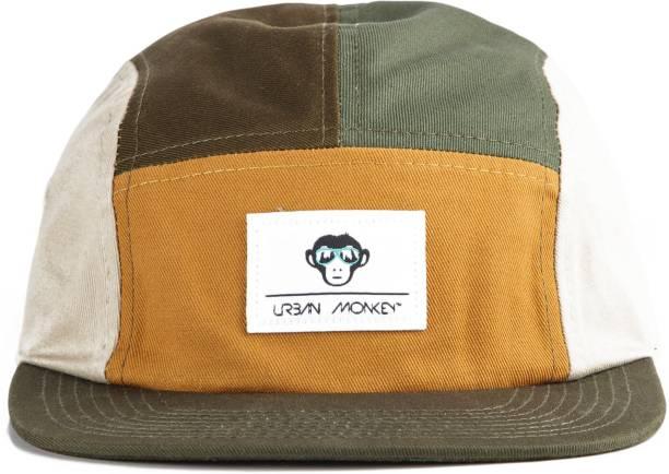 1469c8803d5 Urban Monkey Urban Monkey Retro Ranger 5 panel Olive  Khaki  Mustard 100 %  Cotton