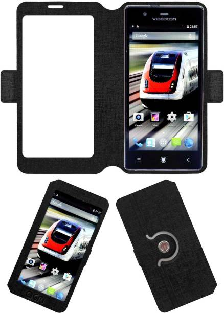 ACM Flip Cover for Videocon Octa Core Z55 Dash