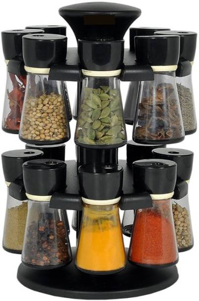 PALAK Premium Multipurpose Revolving Plastic Spice Rack / Condiment Set/salt & Pepper Set - Plastic Kitchenware Masala Box/ 1 Piece Spice Set