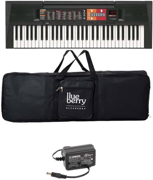 YAMAHA PSR F-51, 61 Keys keyboard Along With Adapter and Blueberry cover bag Digital Portable Keyboard