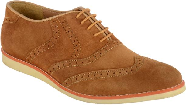 767296a4433003 Goosebird Men's Suede Leather Oxford Shoes Casual Lace up Dress Shoes  Casuals For Men
