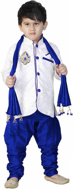 279d6de5a293 SBN BLUE SHERWANI WITH DUPPATA Boys Festive   Party Kurta and Pyjama Set