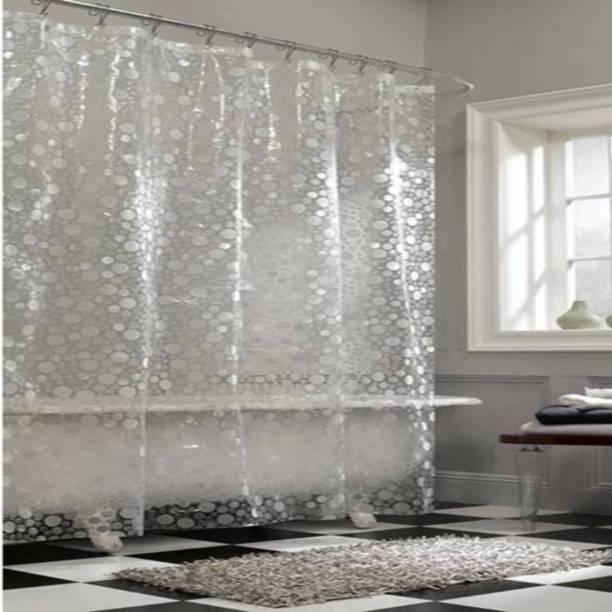 Khushi Creation 210 Cm 7 Ft PVC Shower Curtain Single