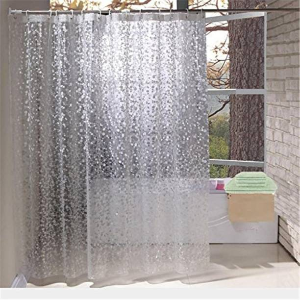 Khushi Creation 27432 Cm 9 Ft PVC Shower Curtain Pack Of 2