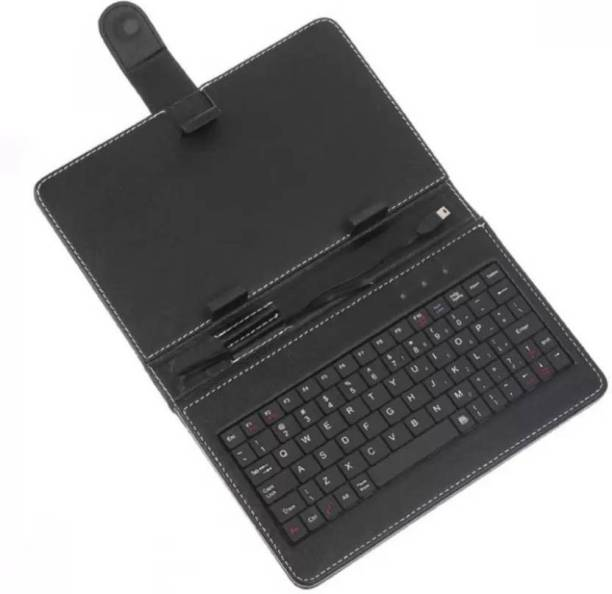 GADGET DEALS Leather Case Cover (with Stand) 7-inch Universal OTG Wired USB Tablet Keyboard