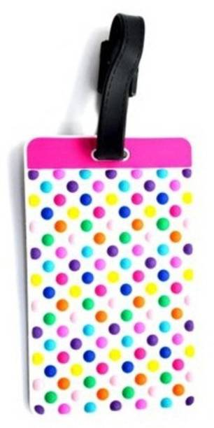 Litera Luggage Tags-Gloss Finish PVC Bag Tag with Silicon Strap- Ideal For Travel Luggage Tag
