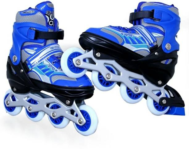 0f137fae68a6 DHAWANI Inline Extrawish Skates size adjustable Size (39-43 UK) In-line