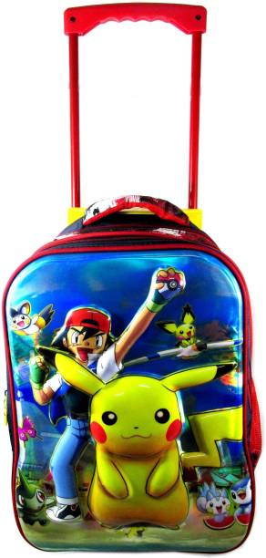 ehuntz Pokemon 5D embossed Trolley school/travel bag (8 to 16 years) (EH980) Waterproof School Bag