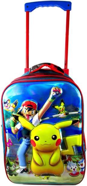ehuntz Pokemon 5D embossed Trolley school/travel bag (8 to 16 years) (EH981) Waterproof Trolley