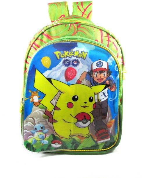 ehuntz Pokemon foldable sheet/minnions school Bag (6 to 12 years) (EH1018) Waterproof School Bag