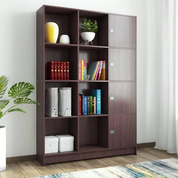 Woodness Venice Engineered Wood Semi Open Book Shelf