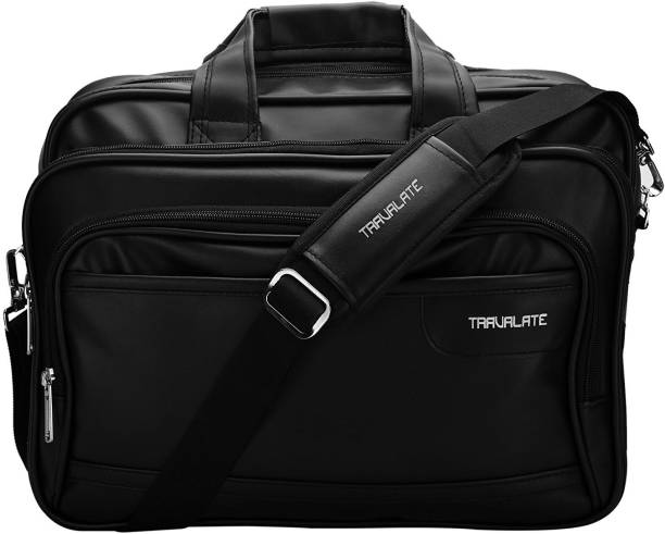 Price -- High to Low. Newest First. Travalate Soft Leather 15.6-Inch Black  Laptop Briefcase   Laptop Bag   Office Bag Medium 4540d87ba7b2a