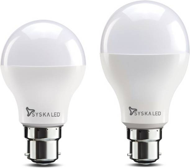 Syska 9 W, 12 W Round B22 LED Bulb