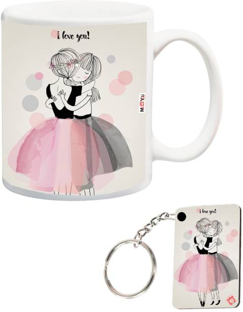 ME&YOU Mug, Keychain Gift Set