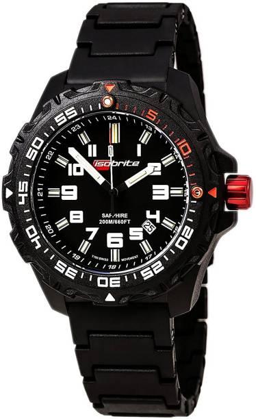 7fe3df2bb915 Isobrite Black8538 Isobrite ISO100-PU Super Bright T100 Tritium Watch with  PU Band Hybrid Watch