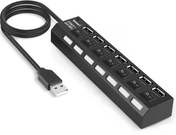 RETRACK 7 Ports ON OFF Sharing Switch Hub USB Adapter