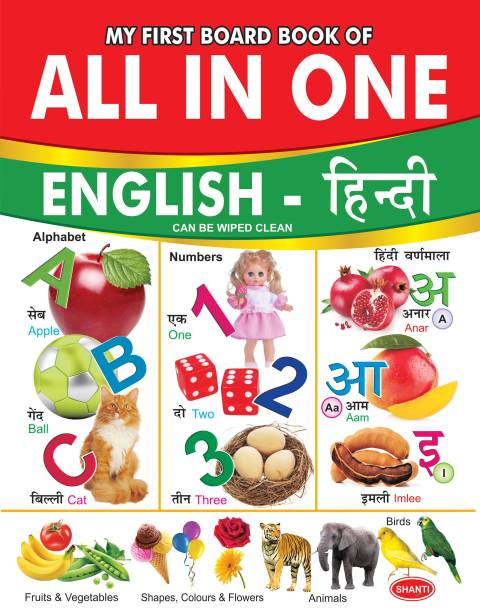 board books for 3 year old-My First Board Book of All-In-One (English-Hindi) - board books