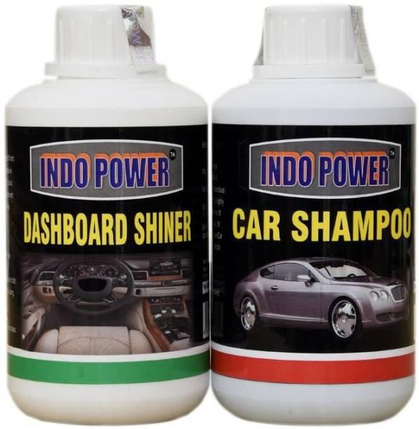 INDOPOWER CAR SHAMPOO 250ml. + DASHBOARD SHINER 250ml. Car Washing Liquid