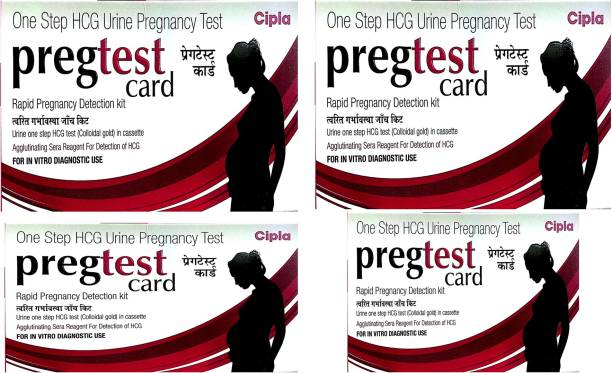 Cipla One step pregtest rapid pregnancy detection kit (pack of 4) Pregnancy Test Kit
