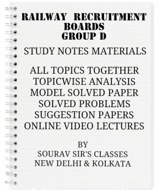 RAILWAY RECRUITMENT BOARDS (RRBs) GROUP- D WITH TOPIC WISE ANALYSIS +20 MODEL SOLVED PAPERS+ PREVIOUS YEAR SOLUTION NOTES BOOKS