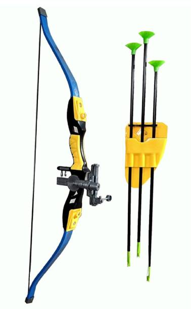 IndusBay Archery Toy Big Size Sports Series Archer Bow and Arrow Toy, Laser Target, Quiver, 3 Arrows, Strong String Thread Bows & Arrows