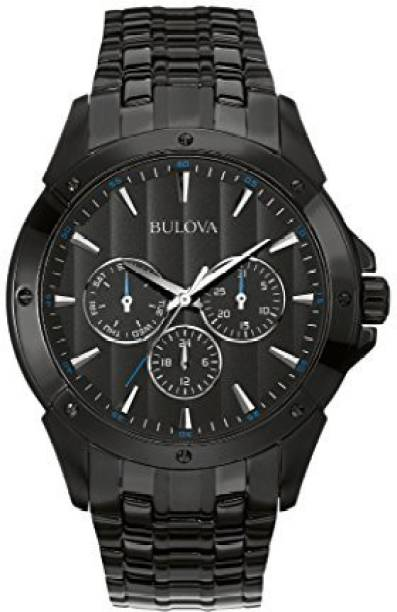 da2476e9 Bulova Black 13617 Bulova Men's 98C121 Sport Analog Display Japanese Quartz  Black Watch Watch - For
