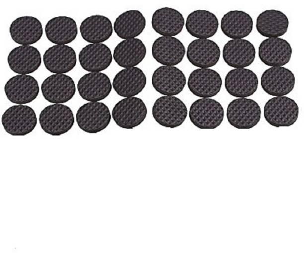 Iktu Self Adhesive Round Felt Pads Non Skid Floor Protector Furniture Sofa Furniture Chair Balance Pad Noise Insulation Pad Floor Bumper - 38mm (32 Pieces) Adhesive