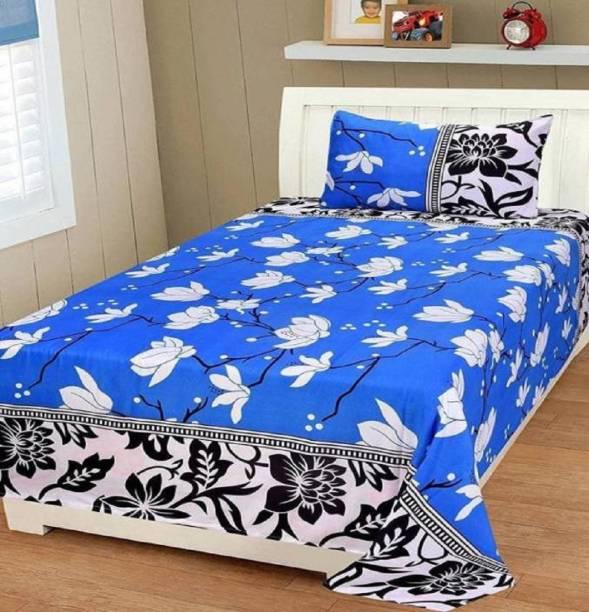 Supreme Home Collective 144 TC Microfiber Single Printed Bedsheet