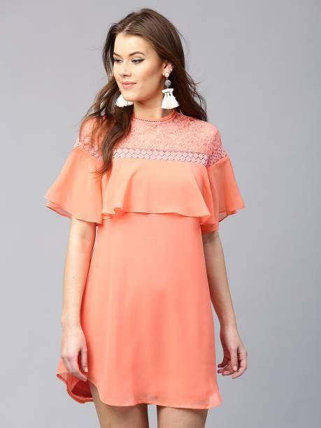 232801494d9 Sassafras Women Shift Orange Dress