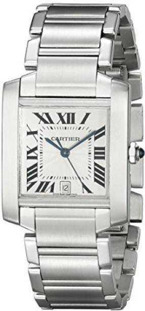 7e6e1b4c15ac2 Cartier Silver5394 Cartier Men s W51002Q3 Tank Francaise Stainless Steel  Automatic Watch Watch - For Men