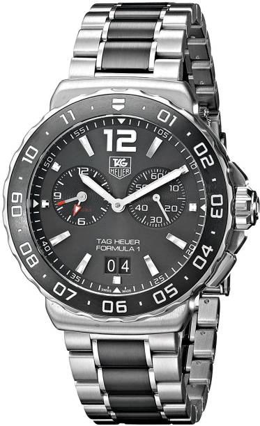 3e90138fa98 TAG Heuer black8061 TAG Heuer Men s WAU111C.BA0869 Analog Display Quartz  Silver Watch Watch -