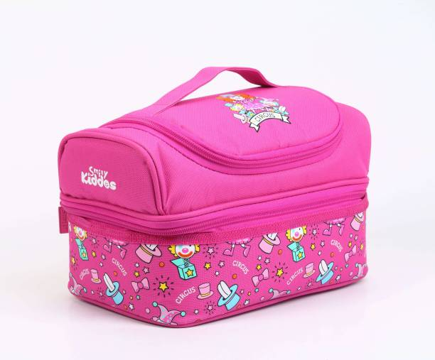 Smily Kiddos Dreamland double decker lunch bag pink Waterproof Lunch Bag 8f99ef5067ed6