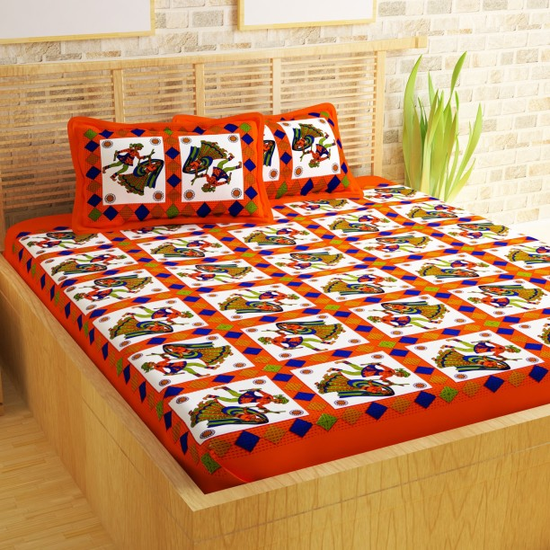 Story@Home 104 TC Cotton Double Printed Bedsheet