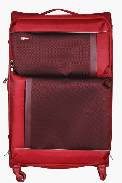 527162ec5fc3 VIP Pulse SP Soft Trolley 56 cm (Red) Expandable Cabin Luggage - 22 inch