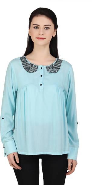 379b9f4de3877d Light Blue Tops - Buy Light Blue Tops Online at Best Prices In India ...