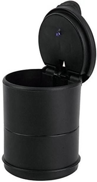 VIRTUAL WORLD Black Plastic Ashtray