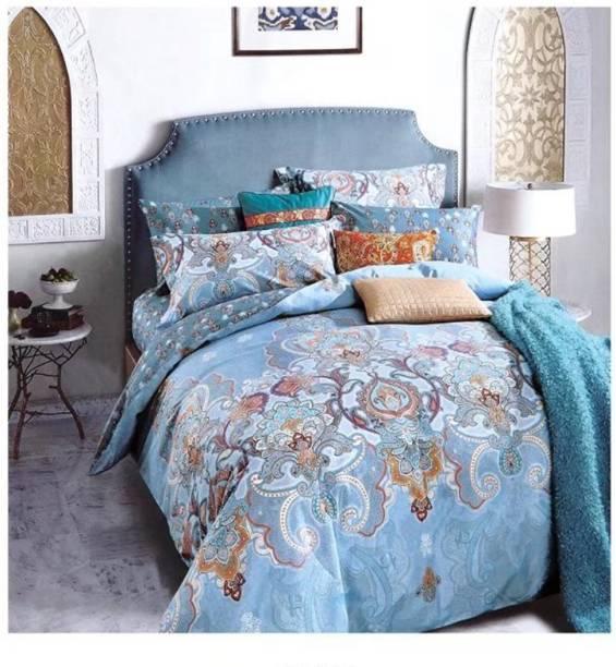House Of Sensation 145 Tc Polycotton Double Self Design Bedsheet