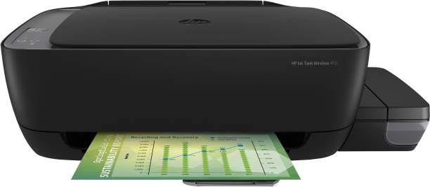 HP Ink Tank WL 410 Multi-function WiFi Color Printer with Voice Activated Printing Google Assistant and Alexa