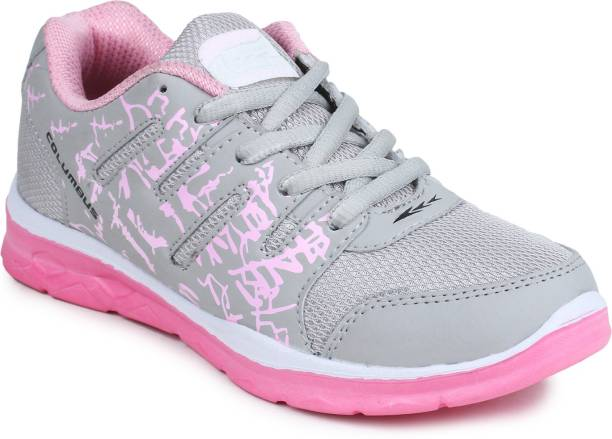 Columbus Ruhi-04-GreyPink Running Shoes For Women 55497d2dc