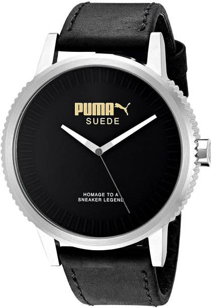 a0f6705261b Puma Black7204 PUMA Unisex PU104101001 Suede limited edition Analog Display Watch  Watch - For Men