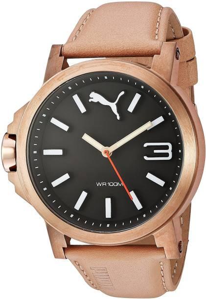 e092ad84d1b3 Puma Black7168 PUMA Unisex PU103462005 Ultrasize LDS Analog Display Quartz  Beige Watch Watch - For Women