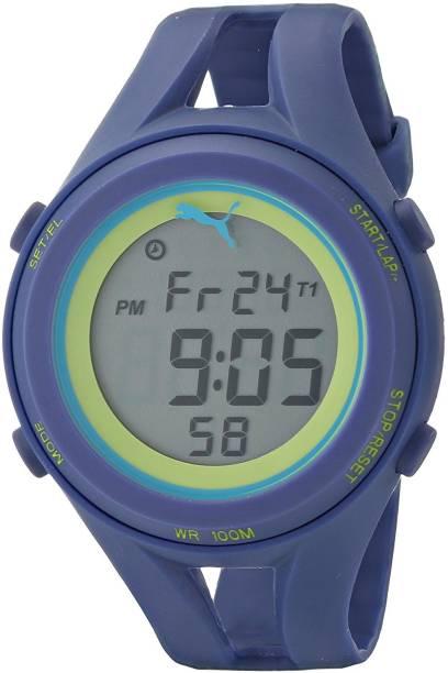 3d4dcdc9430 Puma Grey6583 PUMA Unisex PU911171004 Air III Navy Blue Digital Display  Quartz Blue Watch Watch -